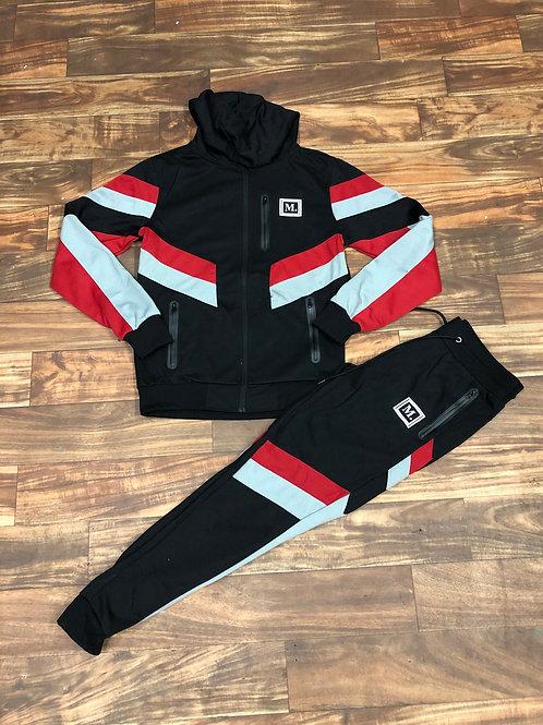BLACK/RED/GREY SWEATSUIT