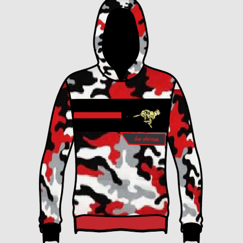 RED CAMO CHASE WHAT COUNTS HOODIE