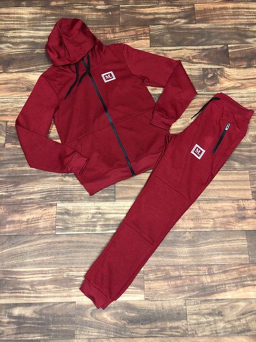 MAROON/BLACK Sweatsuit