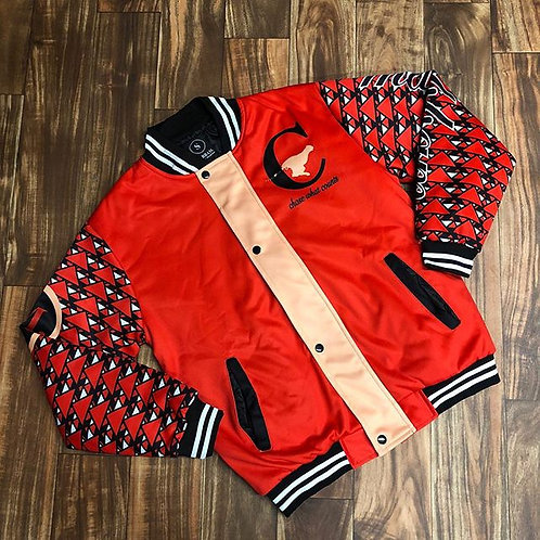 RED & BLACK VARSITY JACKET