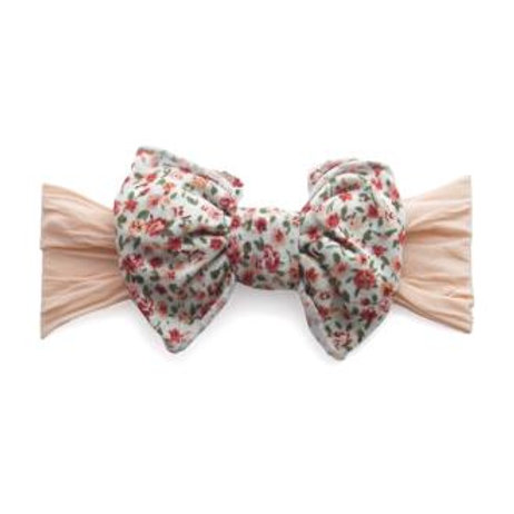 The Jersey Bow - Peach Floral