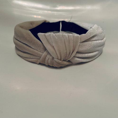 Velvet Headband Beige