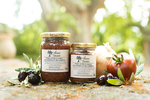 Délice d'Olives Noires aux Tomates et aux Oignons