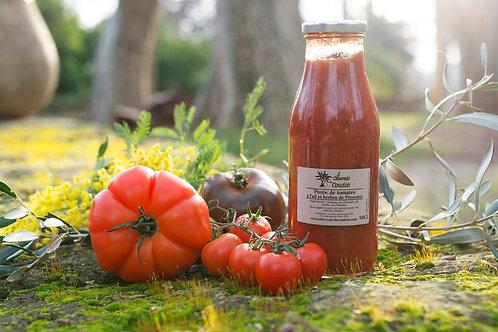 Purée de Tomates à l'Ail et Herbes de Provence
