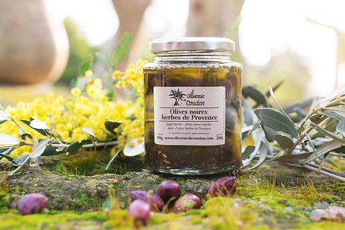 Olives Noires Bio aux Herbes de Provence BIO
