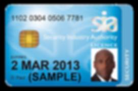Sample SIA License