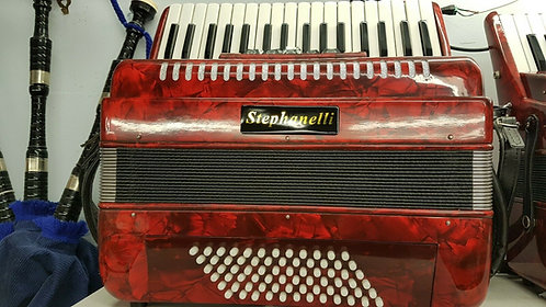 Stephanelli 72 Bass Piano Accordion