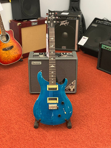 PRS SE Custom 22 (sapphire) electric guitar and padded gig bag