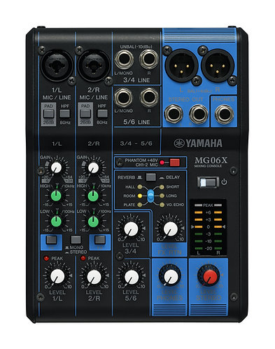Yamaha MG06X 6 Channel Compact Mixer with Effects