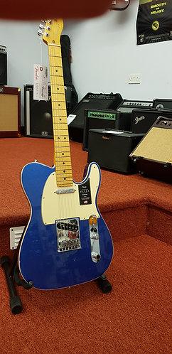 Fender American Ultra Telecaster cobra blue electric guitar