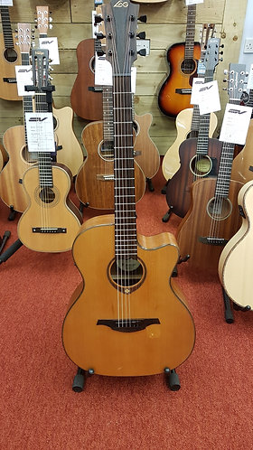 Pre-owned LAG T200ACE electro acoustic guitar with gig bag