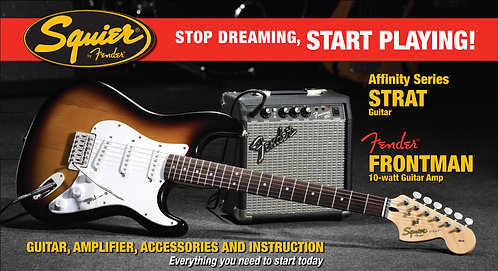 Squier Affinity Stratocaster Starter Pack