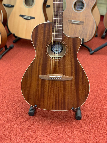 Fender Newporter special mahogany acoustic guitar with padded gig bag