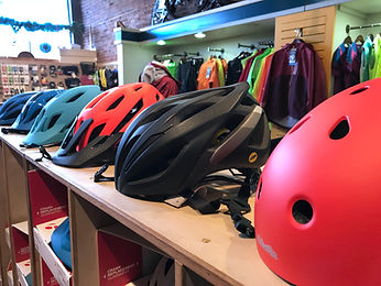 the broken spoke, bontrager, bike shop, washington, helmet