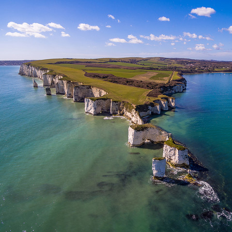 Old Harry Rocks, Dorset - a short car drive away from By the Harbour apartment, West Bay
