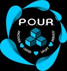 POUR Logo - white - blk bkg.png