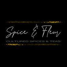 spice & fleur logo -white - black bkg.pn