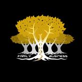 Woods Family Business Logo - white - bla