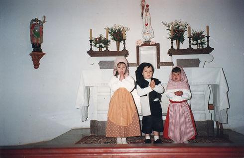 Apresentação teatral na Capela São Miguel com os Pastorinhos de Fátima
