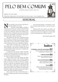 Jornal Pelo Bem Comum - Nº 01