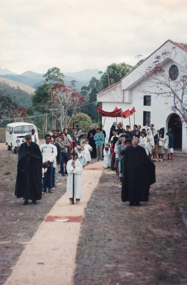 Procisão de Corpus Christi a partir do Capela São Miguel