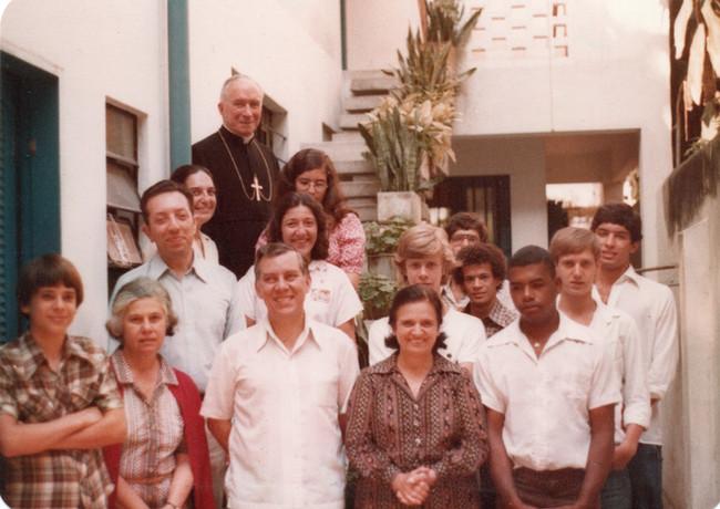 D. Marcel Lefebvre visita a Permanência, no Rio de Janeiro, em 1978