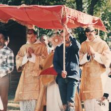 Procissão com exposição do Santíssimo Sacramento em 1997
