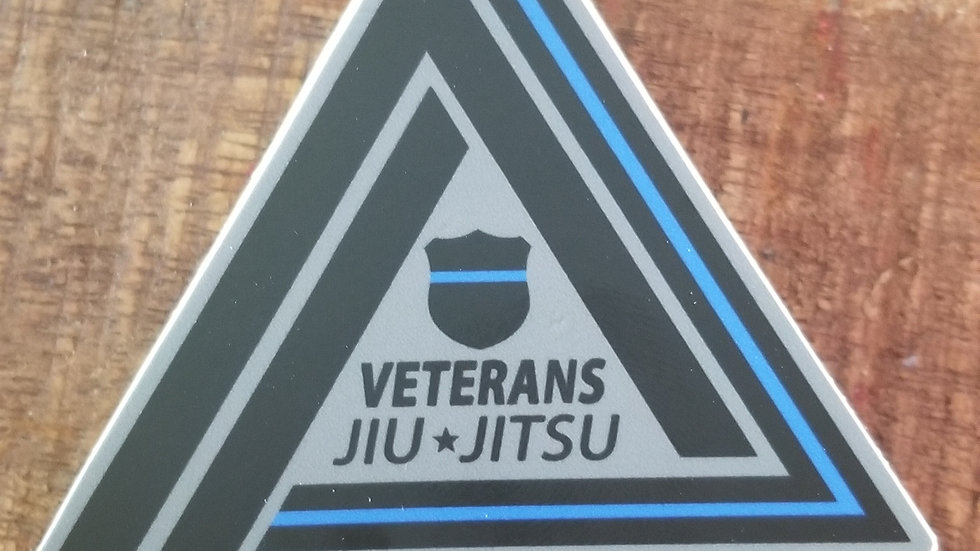 Veterans Jiu-Jitsu Thin Blue Line Sticker
