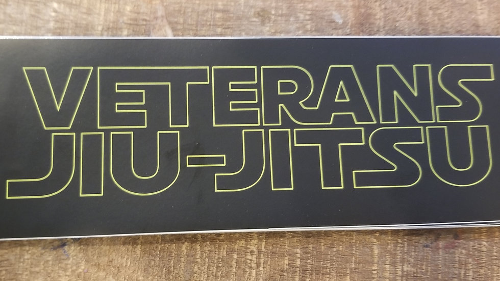 Veterans Jiu-Jitsu Star Wars Style Sticker