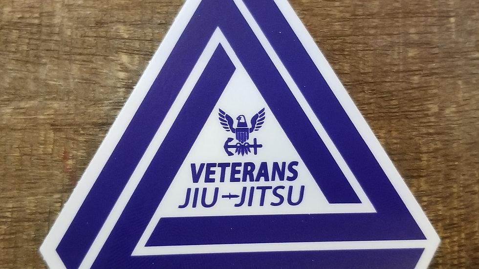 Veterans Jiu-Jitsu Navy Sticker