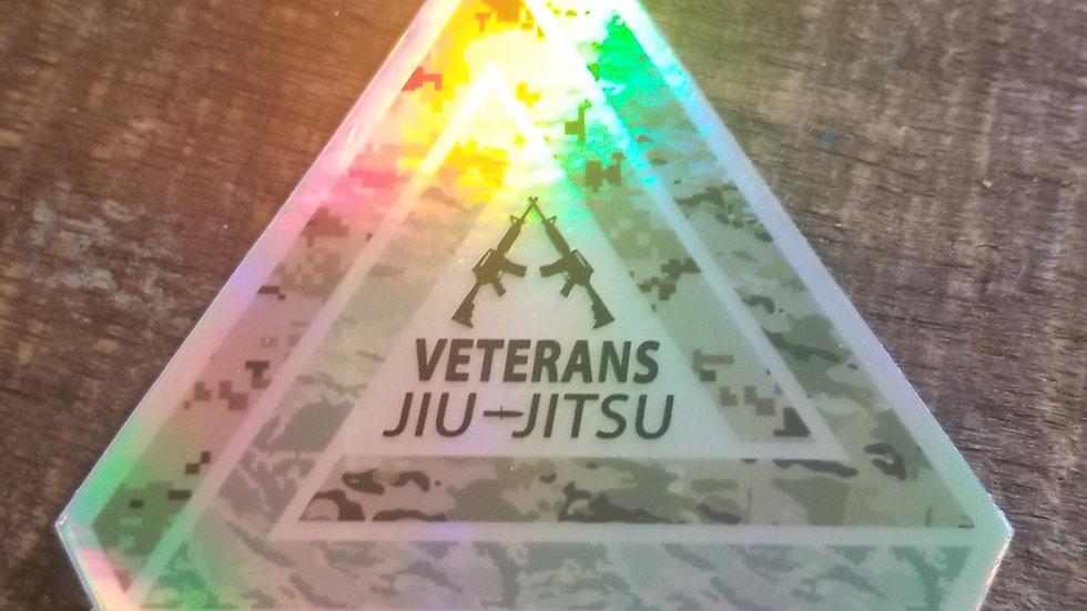 Limited Edition Reflective Veterans Jiu-Jitsu Sticker