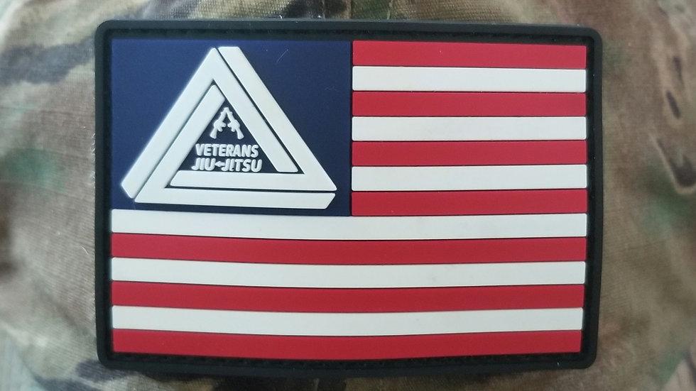 Veterans Jiu-Jitsu Flag Patch w/ Velcro