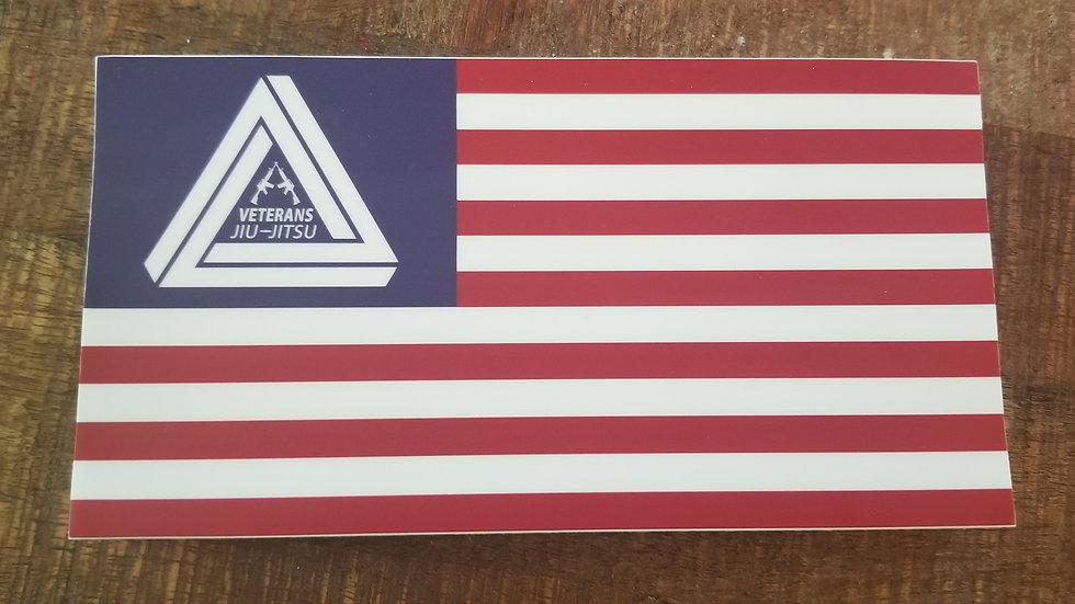 Veterans Jiu-Jitsu Flag Sticker