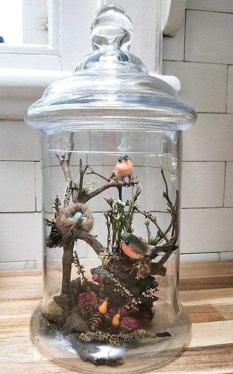 'Feathered Fairytale' Apothecary Jar Diorama