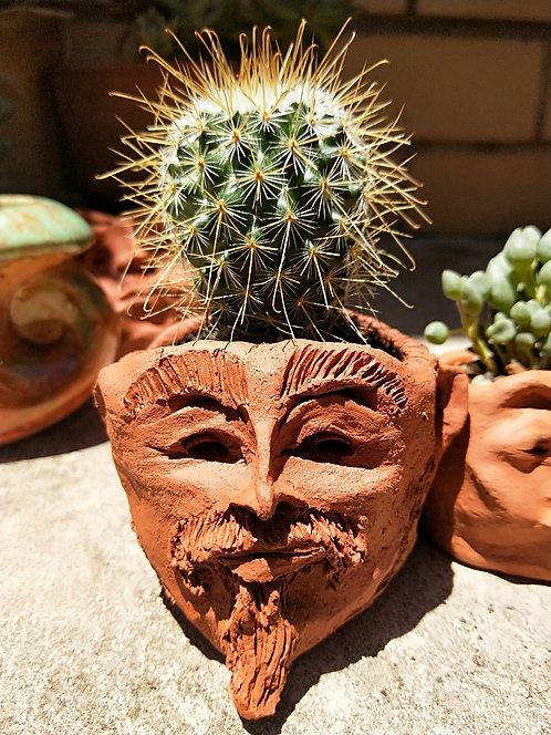 Handmade Terracotta Face Pots