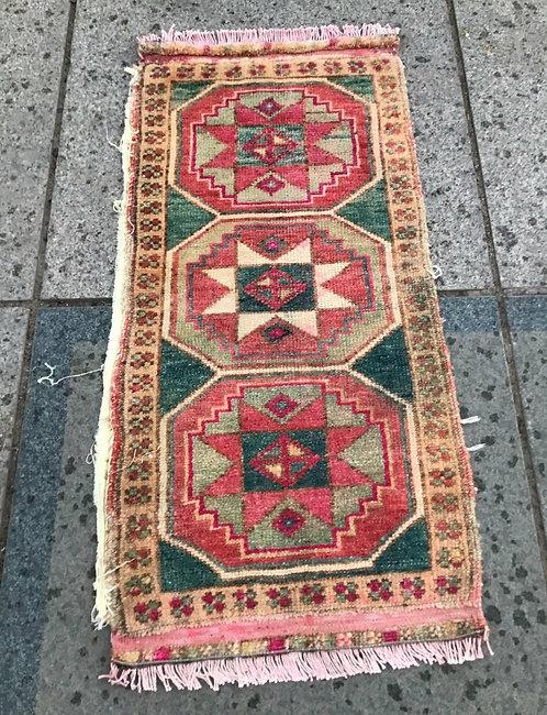 Handwoven Antique Turkish Rug
