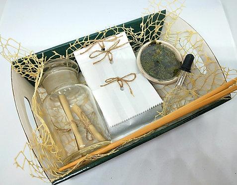 Antique Apothecary Jar - DIY Moss Kit