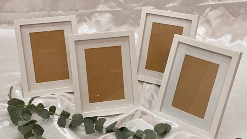 White Finish Photoframe