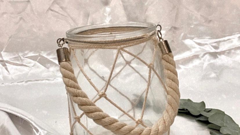 Macrame Glass Jar