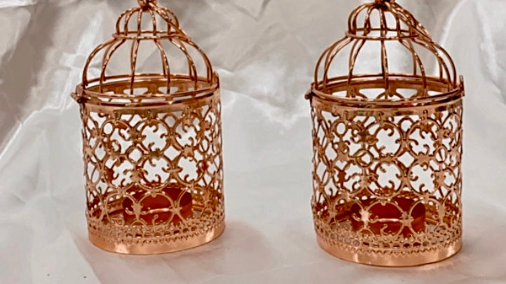 Pink Dome Tealight Holders