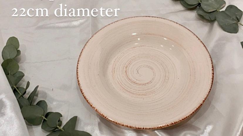 Pink Swirl Plates