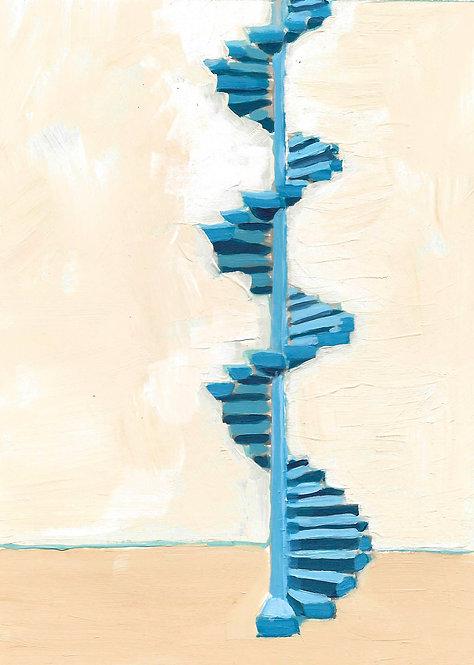 Staircase on the qəpik, Azerbaijan