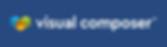 Visual Composer horizontal logo on blue.