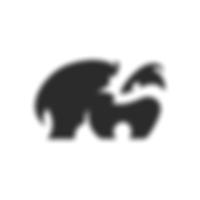 Badger negative space logo.png