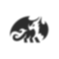 Dragon flame negative space logo.png