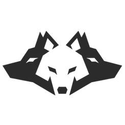 Negative space wolves
