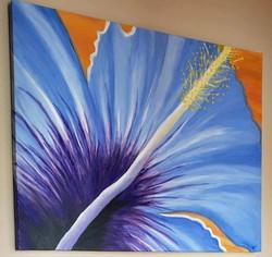 SOLD: Blue Hibiscus