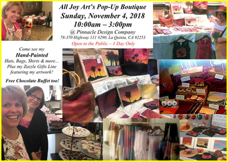 Pop_Up Boutique features Hand-Painted Accessories!