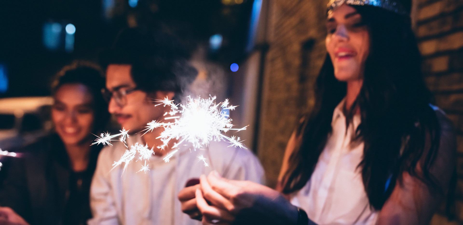 Woman with Sparklers