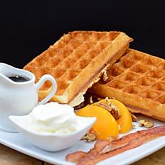 Peaches & Cream Belgian Waffles